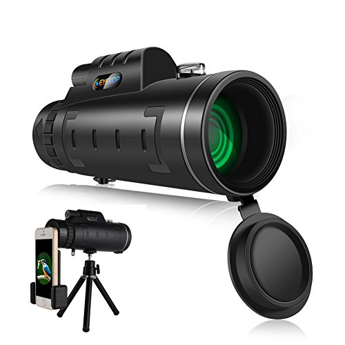 EYEKOP Dual Focus 40x60 Monocular Telescope, Wide-Angle Magnifier Telescope with Lens Dust Cover Compass and Pouch for for Hunting Bird Watching (EK-MT2B-40X60) by EYEKOP