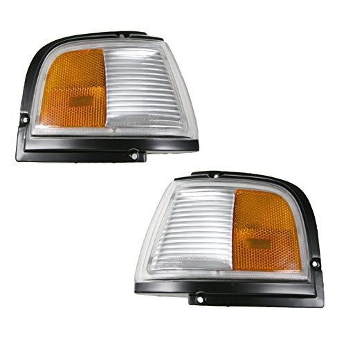 Black Turn Signal Side Corner Marker Light Pair Set for 87-96 Cutlass Ciera Olds