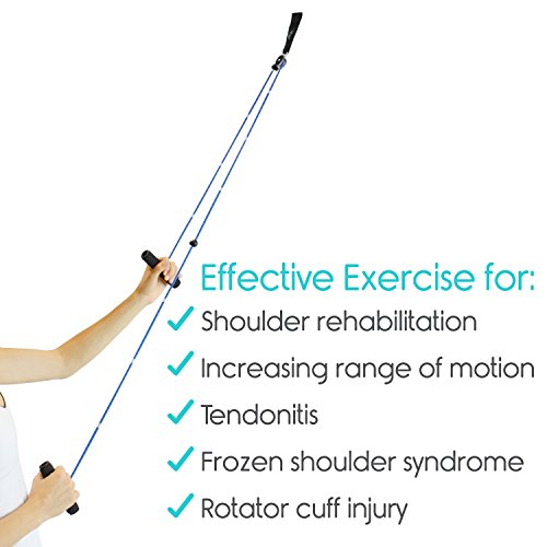 Shoulder Pulley by Vive - Over Door Rehab Exerciser for Rotator Cuff - Home Cable Arm Rehabilitation Exercise System for Frozen Shoulder, Physical Therapy, Flexibility, Range of Motion and Stretching by VIVE (Image #2)
