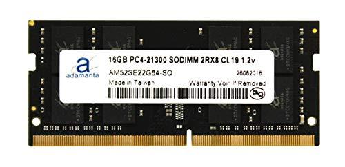 Adamanta 16GB (1x16GB) Laptop Memory Upgrade DDR4 2666Mhz PC4-21300 SODIMM 2Rx8 CL19 1.2v Notebook RAM DRAM