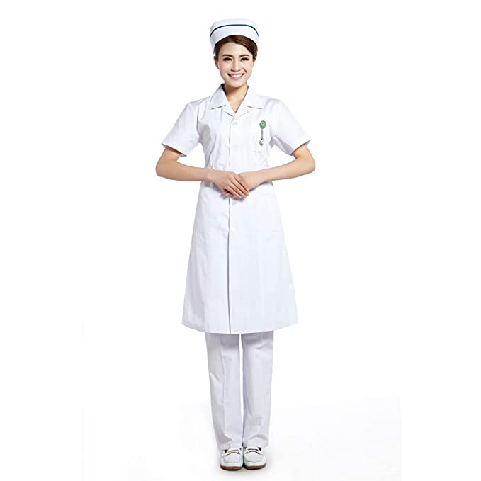 ESENHUANG White Lab Coat Women Medical Scrubs Uniformes De Enfermera Uniformes para El Hospital: Amazon.es: Ropa y accesorios