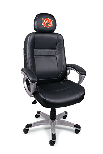 Wild Sports NCAA College Auburn Tigers Leather Head Coach Office Chair