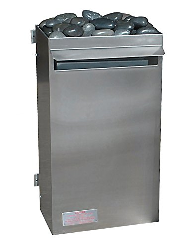 Scandia Made in USA 7.5 KW, 240V (Commercial Grade) Sauna Heater with Steamer Tray, Max 448 Cu Ft Room, UL Listed.