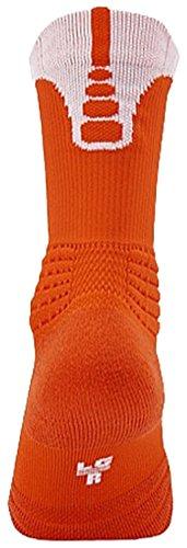 Nike Elite Versatility Crew Socks (Large, Team Orange/White)