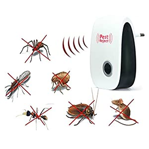 YoYo-Min Multi-use Electronic Pest Repeller Ultrasonic Rejector for Mouse Bug Mosquito Insect (EU PLUG)