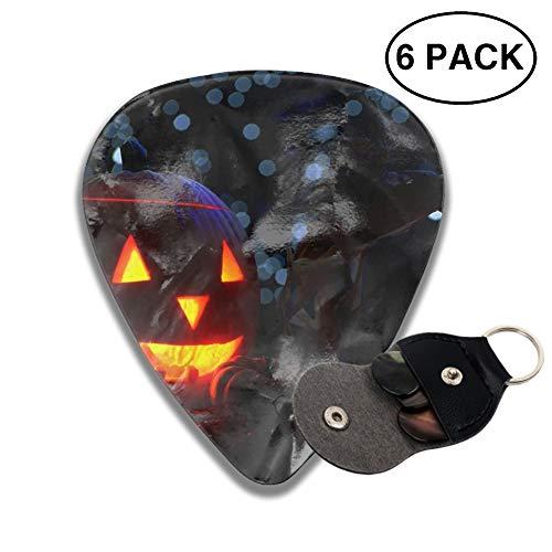 Celluloid Guitar Picks 3D Printed Halloween Scary Pumpkins Best Guitar Bass Gift ()