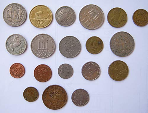 Coins Euro 10 (GR 1976 Greek Coins Pre-Euro Drachma Lepta Very Fine)