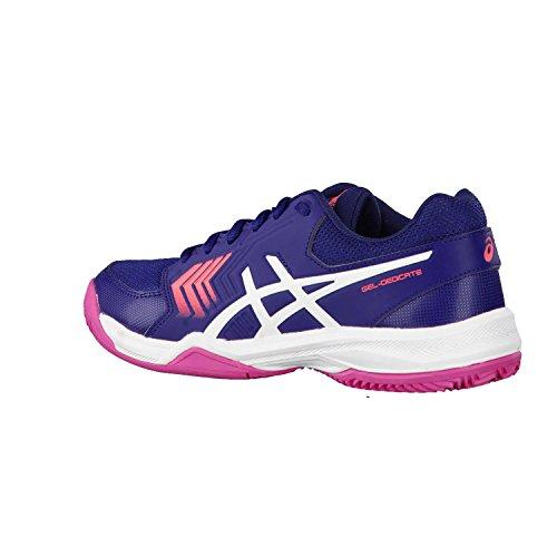 rosa weiß 5 Tennisschuhe violett Asics Damen Gel blu Dedicate rosa Scuro Clay 6qCtvfxw8t