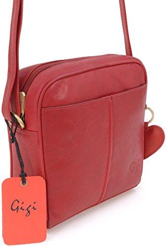 Pequeño Oth22 Cuero 29 Rojo bolso Bolso De Hombro Gigi Bandolera 8dTxvw8q