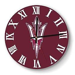 LMQI Wall Clock Fashion Arizona-State-Sun-Devils-Football-White- Style Silent Digital Clock for Office
