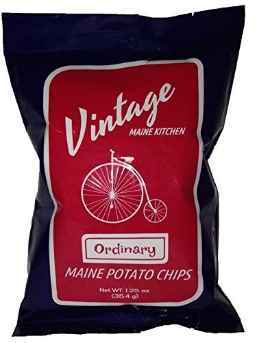 Vintage Maine Kitchen Ordinary Maine Sea Salt Potato Chips 12pk made in New England