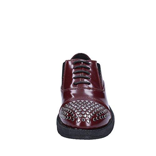 Shoe Milano Borchie rosso Sintetica Oxford Francesco Donna Classiche Pelle xBwwPU