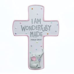 Wonderfully Made Pink Children\'s Cross