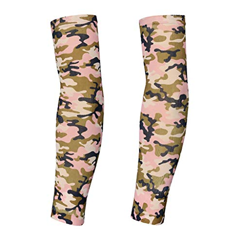 - Hohaski 2pcs Camouflage Nylon Elastic Temporary Tattoo Arm Sleeves Arts Fake Slip on Arm Sunscreen Sleeves Body Stockings Protector -Designs Unisex Stretchable Cosplay Accessories