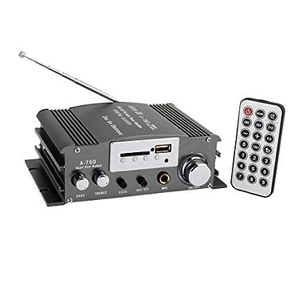 4A 50W Car Auto amplificador controlador de áudio remoto