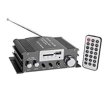 4A 50W auto auto del amplificador audio del mando a distancia