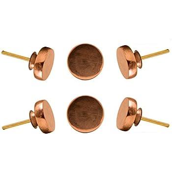 copper door knobs. set of 6 round copper portsoken cabinet knob kitchen cupboard door knobs dressser wardrobe and drawer
