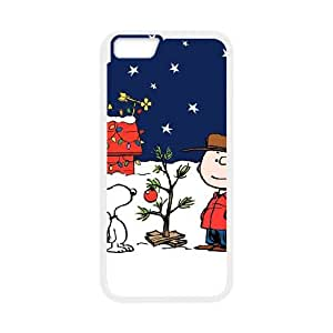 iPhone 6 4.7 Inch Cell Phone Case White Charlie Brown and Snoopy ledw