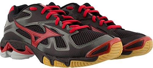 Mizuno Women's Wave Bolt 5 Volleyball Shoe Black/Red