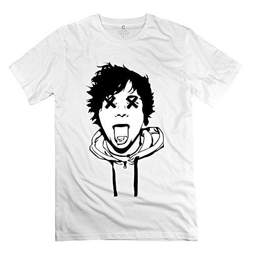 Popular Ed Sheeran Funny Face Men's T-shirt White Size S