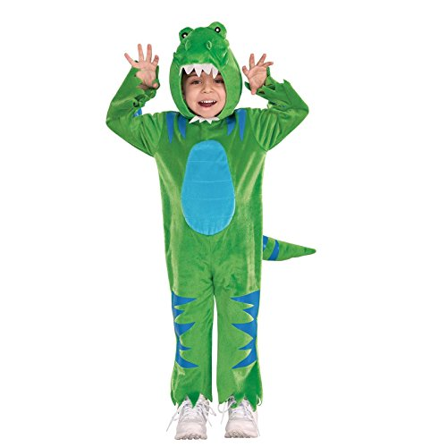 [Totally Ghoul Green Dinosaur Costume, Size Toddler 2t - 4t] (Toddler Lil Ninja Costumes)