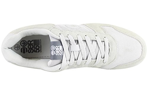 Designer Crosshatch Mens Quilted Trainers Sneaker Low Top Suede Casual Shoes Ghost Grey