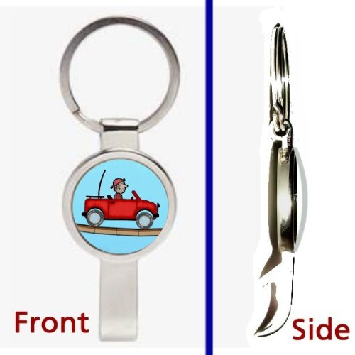 Hill Climber Climb Racing Videogame app Pennant or Keychain Silver Tone Secret Bottle Opener