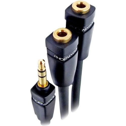 Phoenix Gold ARX30 SPT 3000-Series Audio Y-Adapter, 3.5mm Male-to-Dual 3.5mm Female