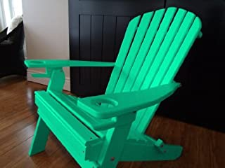 product image for Poly Recycled Plastic Adirondack Chair with One Cupholder- Aruba Blue