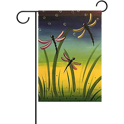 Eaiferly Dragonfly Garden Flag Double-Sized Print Decorative Holiday Home Flag, 12 x 18 ()