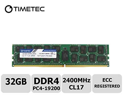 Timetec Samsung IC 32GB DDR4 2400MHz PC4-19200 Registered ECC 1.2V CL17 2Rx4 Dual Rank 288 Pin RDIMM Server Memory Ram Module Upgrade - Server Motherboard Tyan