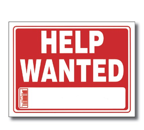 "Bazic 12"" X 16"" Help Wanted Sign Box Pack 24"