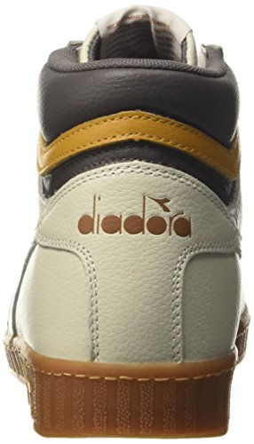 Diadora Game L High, Sneaker a Collo Alto Uomo Bianco (White/Plum Kitten/Inca Gold)