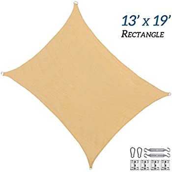 Amazon Com Rainleaf 13 X 19 Rectangle Sun Shade Sail