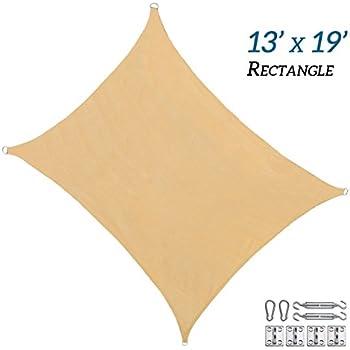 Amazon Com Rainleaf 13 X 19 Rectangle Sun Shade Sail