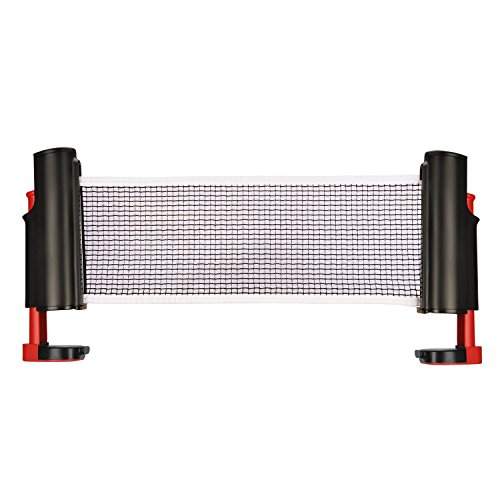 Best Price ELOKI Retractable Table Tennis Net Replacement, Portable Ping Pong Net Rack, 6 Feet(1.8M)...