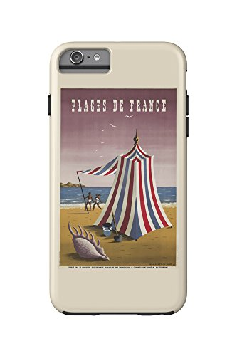 plages-de-france-vintage-poster-artist-doux-france-c-1947-iphone-6-plus-cell-phone-case-cell-phone-c