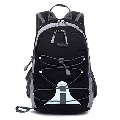 Small size Waterproof Sport Backpack, 10 inches Lightweight Ultra Light backpack, for Girls Boys Kids Traveling (Black)