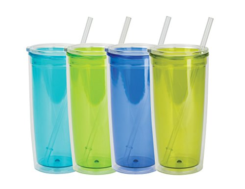 Boston Warehouse 28710 Insulated Tumbler with Lid & Straw, 2