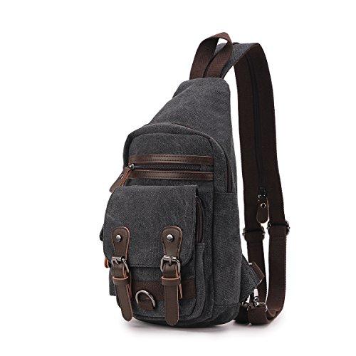 WEBETTER 6025 Canvas Sports/Laptop/Ipad Backpack (Black)