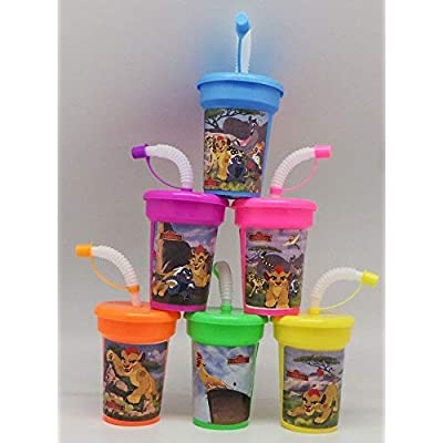 6 Lion Guard Stickers Birthday Sipper Cups with lids Party Favor Cups Lion King: Toys & Games