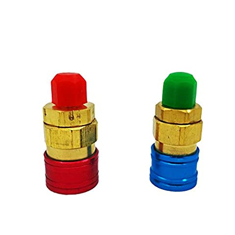 VLike Adjustable AC R134a Quick Coupler Connector Adapter High/Low 1/4