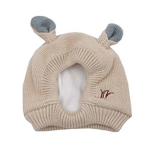 Home Prefer Toddler Winter Hats Kids Beanie Caps with Fleece Warm Hat for  Outdoor Indoor Beige 60284ddce6e1