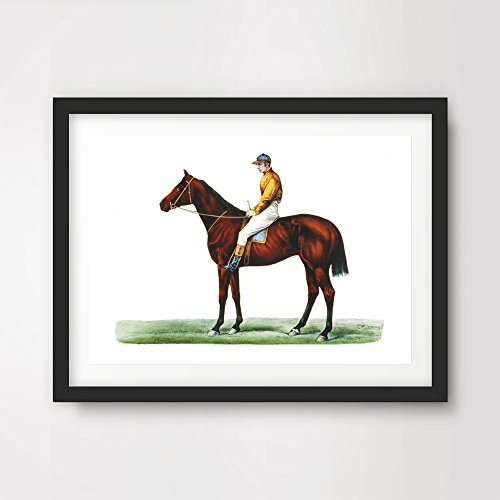 HORSE RACING JOCKEY ART PRINT Poster Vintage Victorian Antique Equestrian Home Decor Design Wall Picture A4 A3 A2 10 Size Options