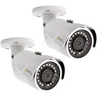 Q-See QCA8075B-2 4MP High Definition Analog Bullet Security Camera 2-Pack (White)
