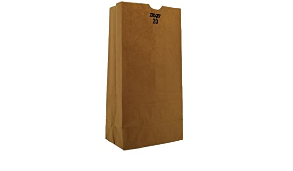 Amazon.com: 18420 Papel Kraft plana inferior Bolso de ...