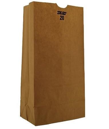 Amazon.com: 18420 Papel Kraft plana inferior Bolso de ...