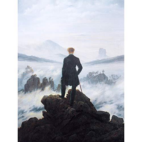 Friedrich Wanderer Above Sea Fog Painting Large XL Wall Art Canvas Print (Wanderer Above The Sea Of Fog Print)