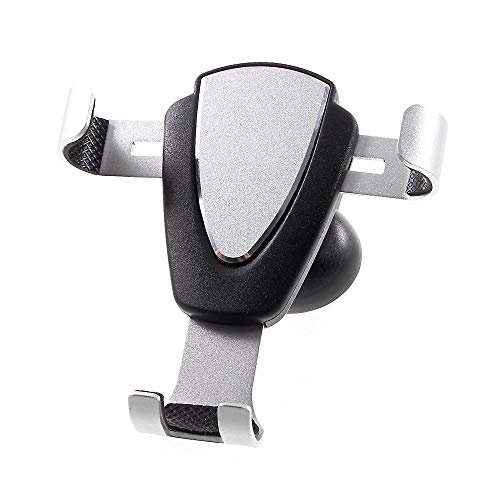 DFV mobile - Gravity Air Vent Phone Car Mount Holder with Clip for => Sharp AQUOS Serie Mini SHV38 > Black & Silver