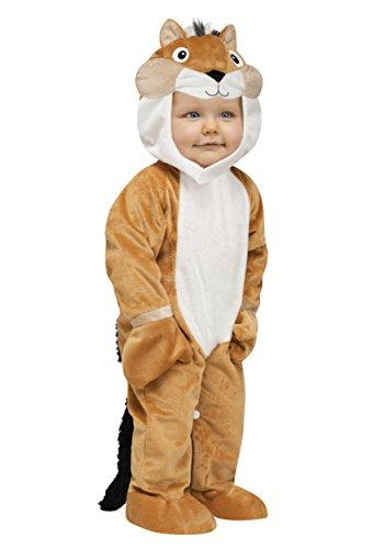 Fun World Costumes Baby's Chipper Chipmunk Toddler Costume, Tan/White/Black, Small]()
